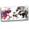 Design Art Hockey Face Off Graphic Art on Wrapped Canvas
