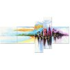Design Art Modern Beach Paradise 5 Piece Graphic Art on Wrapped Canvas Set