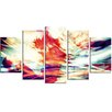 Design Art Winds of the World 5 Piece Graphic Art on Wrapped Canvas Set