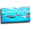 Design Art Family of Dolphins Graphic Art on Wrapped Canvas