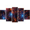 Design Art Fire and Ice 5 Piece Graphic Art on Wrapped Canvas Set