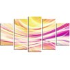 Design Art Candy Stripes 5 Piece Graphic Art on Wrapped Canvas Set