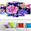 Design Art Floral Gathering 5 Piece Graphic Art on Wrapped Canvas Set