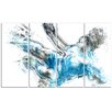 Design Art Soccer Power Kick 4 Piece Graphic Art on Wrapped Canvas Set