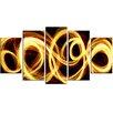 Design Art Gold Shock 5 Piece Graphic Art on Wrapped Canvas Set