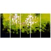 Design Art Green Be Square 5 Piece Graphic Art on Wrapped Canvas Set