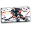 Design Art Hockey In Motion Graphic Art on Wrapped Canvas