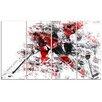 Design Art Hockey Break Away 4 Piece Graphic Art on Wrapped Canvas Set