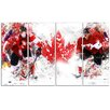 Design Art Hockey In Canada 4 Piece Graphic Art on Wrapped Canvas Set