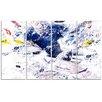 Design Art Hockey Slap Shot 4 Piece Graphic Art on Wrapped Canvas Set
