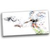 Design Art Soccer Defense Graphic Art on Wrapped Canvas