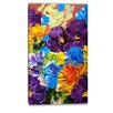 Design Art Heavily Textured Abstract Flowers Abstract Painting Print on Wrapped Canvas