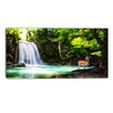 Design Art Erawan Waterfall Landscape Photographic Print on Wrapped Canvas