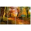 Design Art Beauty of Nature Landscape 4 Piece Painting Print on Wrapped Canvas Set