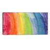 Design Art Flowing Rainbow Colors Abstract Graphic Art on Wrapped Canvas