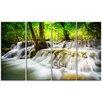 Design Art Erawan Waterfall Landscape 4 Piece Photographic Print on Wrapped Canvas Set