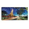 Design Art Eiffel Tower at Sunset Landscape Photographic Print on Wrapped Canvas