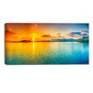 Design Art Bright Sunset Panorama Photographic Print on Wrapped Canvas