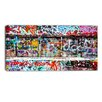 Design Art Colorful Graffiti Street Graphic Art on Wrapped Canvas