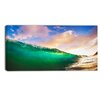 Design Art Waves Under Cloudy Sky Seascape Photographic Print on Wrapped Canvas