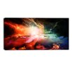 Design Art Colorful Nebulae Contemporary Graphic Art on Wrapped Canvas
