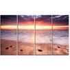 Design Art Sunset Strip Landscape 4 Piece Photographic Print on Wrapped Canvas Set