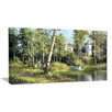 Design Art The River in the Spring Landscape Painting Print on Wrapped Canvas