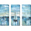 Artistic Home Gallery 'Evening Bay' by Nan 3 Piece Painting Print on Wrapped Canvas Set