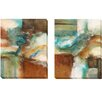 Artistic Home Gallery 'Rare Eart' by Norm Olson 2 Piece Painting Print on Wrapped Canvas Set