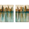 Artistic Home Gallery 'City View' by Norm Olson 2 Piece Painting Print on Wrapped Canvas Set