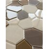 """Upscale Designs by EMA 12"""" x 12"""" Glass Mosaic Tile in Brown and Beige"""