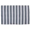 Cosmic Inc. Canaba Stripe Hand-Knotted Gray/White Indoor/Outdoor Area Rug