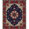Due Process Stable Trading Company Mogul Hand-Tufted Blue/Burgundy Area Rug