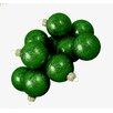 Seasons Designs Glitter Glass Ball Christmas Ornament (Set of 48)