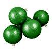 Seasons Designs Envy Glitter Glass Ball Christmas Ornament (Set of 16)