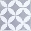 "Rustico Tile & Stone MeaLu 8"" x 8"" Circulos WG Cement Tile (Set of 6)"