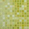 """Kellani Lux Eco 12.375"""" W x 12.375"""" L Glass Mosaic in Lemon Lime"""