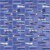 """Kellani Moon Blends 12.375"""" W x 12.375"""" L Eco Glass Mosaic in Sobe Blue"""