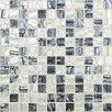 "Kellani Moon Blends 12.375"" W x 12.375"" L Eco Glass Mosaic in Tuxedo Moon"