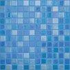 """Kellani Lux Eco 12.375"""" W x 12.375"""" L Glass Mosaic in Blue Lagoon"""