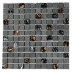 "Kellani Paragon 12"" x 12"" Glass & Slate Mosaic Tile in Lava"