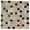 """Kellani Paragon 12"""" x 12"""" Glass Mosaic Tile in Butterscoth"""