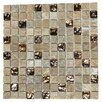 "Kellani Paragon 12"" x 12"" Glass Mosaic Tile in Golden Honey"