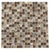 "Kellani Paragon 12"" x 12"" Glass Mosaic Tile in Sable Mixed"