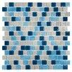 "Kellani Tides 0.75"" x 0.75"" Glass Mosaic Tile in Big Sky"