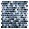 "Kellani Tides 0.75"" x 0.75"" Glass Mosaic Tile in Shark Skin"