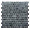 "Kellani Quartz 0.75"" x 0.75"" Glass Mosaic Tile in Light/Dark Gray"