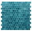 "Kellani Quartz 0.75"" x 0.75"" Glass Mosaic Tile in Turquoise/Blue"