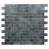 "Kellani Quartz 0.75"" x 1.63"" Glass Mosaic Tile in Light/Dark Gray"