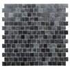 "Kellani Quartz 0.75"" x 0.75"" Glass Mosaic Tile in Black/Gray"